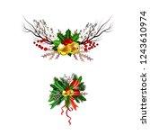 christmas festive decoration...   Shutterstock .eps vector #1243610974
