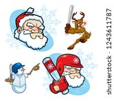 assorted icons of baseball or... | Shutterstock .eps vector #1243611787