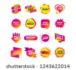 sale banner templates design.... | Shutterstock .eps vector #1243622014