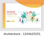 time management  planning ... | Shutterstock .eps vector #1243625251