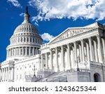 washington dc  us capitol...   Shutterstock . vector #1243625344