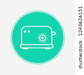 toaster vector icon sign symbol   Shutterstock .eps vector #1243626151