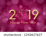 abstract gold shining new year... | Shutterstock .eps vector #1243627627