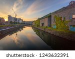 otaru canal was a central part... | Shutterstock . vector #1243632391