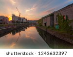 otaru canal was a central part... | Shutterstock . vector #1243632397