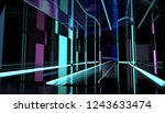 perspective neon styled black... | Shutterstock . vector #1243633474