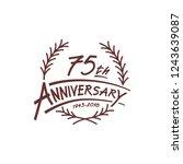 75 years design template.... | Shutterstock .eps vector #1243639087