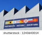 portsmouth  uk   october  2018  ...   Shutterstock . vector #1243643014