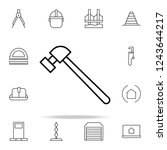 hammer icon. architecture icons ... | Shutterstock . vector #1243644217