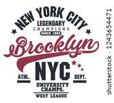 t shirt stamp graphic  new york ... | Shutterstock .eps vector #1243654471