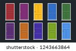 set of doors. vector... | Shutterstock .eps vector #1243663864