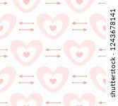 cute seamless pattern with... | Shutterstock .eps vector #1243678141