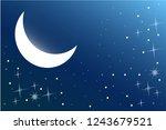 moonlight sky night | Shutterstock .eps vector #1243679521