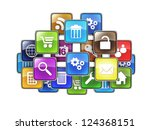 group of mobile applications in ... | Shutterstock . vector #124368151