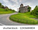 vaduz castle  alps ... | Shutterstock . vector #1243684804