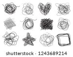 hand drawn lines on isolated... | Shutterstock .eps vector #1243689214