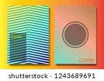 abstract vector template  flyer ...   Shutterstock .eps vector #1243689691