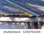 close up rain gutter on... | Shutterstock . vector #1243701634