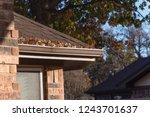 close up rain gutter on... | Shutterstock . vector #1243701637