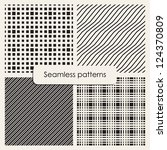 set of monochrome geometric... | Shutterstock .eps vector #124370809
