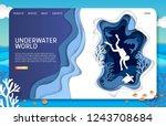 underwater world landing page... | Shutterstock .eps vector #1243708684