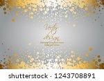 vector illustrartion of gold... | Shutterstock .eps vector #1243708891
