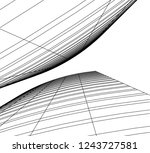 abstract architecture 3d | Shutterstock .eps vector #1243727581