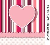 valentine card | Shutterstock .eps vector #124373761