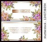 romantic wedding invitation... | Shutterstock .eps vector #1243738354