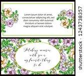 romantic wedding invitation... | Shutterstock .eps vector #1243738357