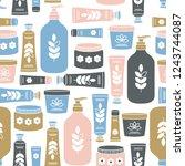 organic cosmetics background.... | Shutterstock .eps vector #1243744087