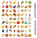set of food icons   vector... | Shutterstock .eps vector #1243754884
