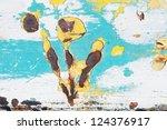 rusty metal grunge background | Shutterstock . vector #124376917