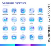 computer hardware icon set....
