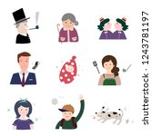the faces of various families | Shutterstock .eps vector #1243781197