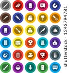 white solid icon set  camping...   Shutterstock .eps vector #1243794781