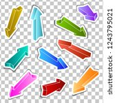 set of stickers   colored...   Shutterstock .eps vector #1243795021