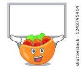 up board falafel in pita in...   Shutterstock .eps vector #1243795414