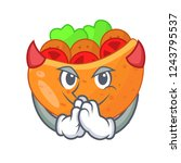 devil labneh pita bread with...   Shutterstock .eps vector #1243795537