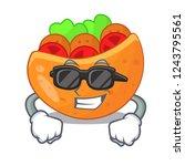 super cool pita bread...   Shutterstock .eps vector #1243795561