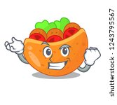 successful pita bread...   Shutterstock .eps vector #1243795567