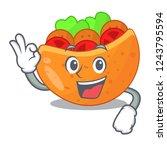 okay pita bread sandwiches with ...   Shutterstock .eps vector #1243795594