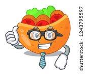 businessman pita bread...   Shutterstock .eps vector #1243795597