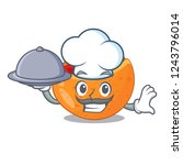 chef with food labneh pita... | Shutterstock .eps vector #1243796014