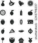 solid black vector icon set  ... | Shutterstock .eps vector #1243798237