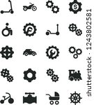 solid black vector icon set  ... | Shutterstock .eps vector #1243802581