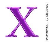 colorful purple plastic letter... | Shutterstock . vector #1243808407