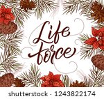 holiday vintage design for card.... | Shutterstock .eps vector #1243822174
