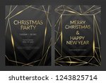 luxury christmas party poster... | Shutterstock .eps vector #1243825714