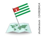 map with flag of abkhazia...